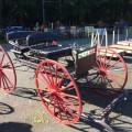 Calèche, carriole, voiture double à chevaux - 1