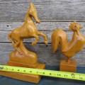 Sculptures en bois, cheval et coq - 4