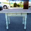 Table rustique avec tiroir - 3
