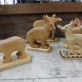 Lot de sculptures en bois signées Clément fournier - 5
