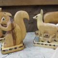 Lot de sculptures en bois signées Clément fournier - 6