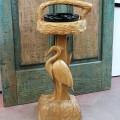 Cendrier sculpté en bois - 1