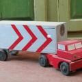 Ancien jouet, camion en bois - 5