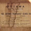 Horloge murale, Arthur Pequegnat, Ottawa - 3