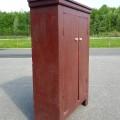 Primitive Quebec pine cupboard - 11