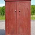 Primitive Quebec pine cupboard - 2