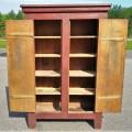 Primitive Quebec pine cupboard - 3