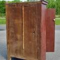 Primitive Quebec pine cupboard - 5