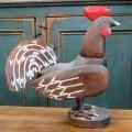Art populaire, coq sculpté en bois - 1
