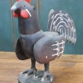 Art populaire, coq sculpté en bois - 2