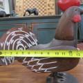 Art populaire, coq sculpté en bois - 5