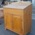 Antique pine desk - 2