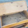 Antique pine desk - 4