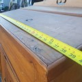 Antique pine desk - 7