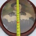 Cadre ovale avec vitre bombé  - 2