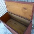 Coffre-bahut en pin, couleur d'origine, provenance Maritimes  - 4