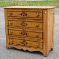 Commode, bureau en pin - 1