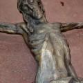 Corpus du Christ finement sculpté en bois, crucifix - 2