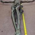 Corpus du Christ finement sculpté en bois, crucifix - 3