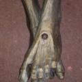 Corpus du Christ finement sculpté en bois, crucifix - 7