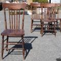 Ensemble de 4 chaises, pressback - 1
