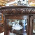 Oak china cabinet - 4