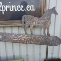 Hand made cuper weathervane with horse - 1