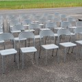 Lot de chaises en métal - 3