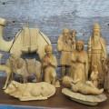 Personnages de crèche sculptés en bois d'olivier - 3