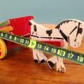 Petit jouet, cheval et sa charrette  - 2