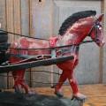 Folk art sculpture with horse - 4