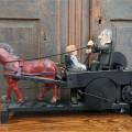 Folk art sculpture with horse - 5