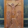 Sculpture bas-relief avec Christ - 1