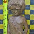 Sculpture en bois signée Lynn, art populaire - 6