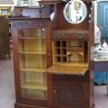 Secrétaire bibliothèque en chêne, vaisselier - 3