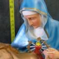 Statue religieuse signée Carli, La pietà - 3