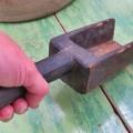 Très vieille petite pelle sculptée en bois - 5