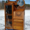 Side-by-side desk china cabinet - 12