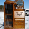 Side-by-side desk china cabinet - 7