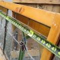Vitrail avec cadre en bois, voir autres photos - 3