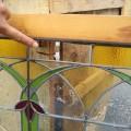 Vitrail avec cadre en bois, voir autres photos - 4