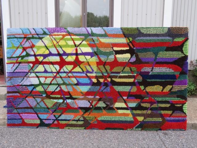 Très grand tapis crocheté 4