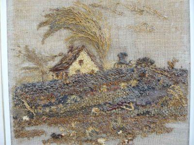 Collage sur toile signé Yvonne Bolduc, Baie-Saint-Paul 3